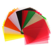 50 Sheets Colored Translucent  Papers for DIY Drawing Card making
