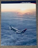 Delta Airlines Boeing 767-300 Poster. 28 x 22 inches. 1997. Interim Livery. VGC!