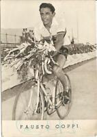 Foto cartolina autografata di Fausto Coppi Bianco e nero Viaggiata Con autografo