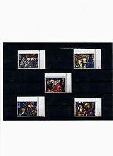 Großbritannien,Mi.nrn. 1421-1425,Weihn. 1992,Kirchenfenster,postfrisch Eckrand!