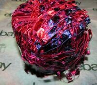 NEW DYNASTY YARN ZAMBIA Ruby Red and Purple 50 g Nylon Yarn 686 001