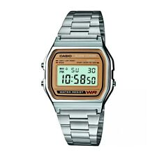 Casio Classic A158WEA-9EF Retro Digital Watch with Stainless Steel Bracelet