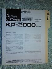 Pioneer kp-2500 service manual original repair book stereo car radio tape deck