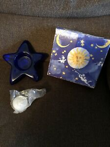 Blue Heaven Candle Holder By Two's Company NWB Star Shaped