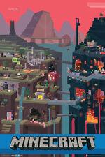 Minecraft - Collage Poster 61x91cm * Official Mine Craft Game Scene Artwork