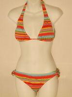 NWT Sun Kissed designer 2 piece bikini set size juniors medium stripes
