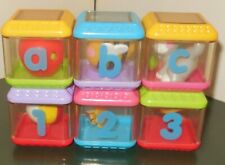 FISHER PRICE BABY LETTERS NUMBERS A-B-C 1-2-3 PEEK A BLOCKS TOY LOT