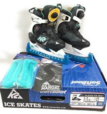 K2 Skates Alexis Ice Boa 4 Softboot Thinsulate Stability Cuff Stainless Steel