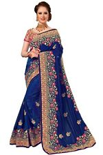Sari Indian Ethnic Designer Silk Embroidery Saree for Wedding Party wear (K776)