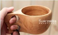 Kuksa Nordic Wooden Craft Drinking Cup Finland Handmade Dual Ring Mug Home Decor