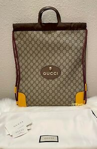 NEW Authentic Gucci Neo Vintage Drawstring Backpack Unisex🌼