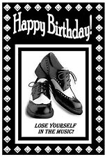 NORTHERN SOUL (SHOES)  BIRTHDAY CARD - GLOSS FINISH - BRAND NEW