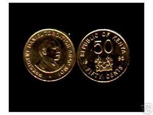 KENYA 50 CENTS KM-28 1995 MOI UNC COIN AFRICAN LOT X 100 PCS WHOLE SALE MONEY