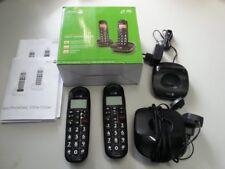 Doro DECT Cordless Telephone Big Button schwarz PHONEEASY 100w duo