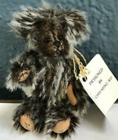 """Miniature Mohair Bear""""Zev"""" 3 1/2 Inches Tall Designed By Chu-Ming Wu 152/3000"""