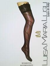 Luisa Maria Lugli Women's Eva Aut Diag Thigh-high Holds Up Coffie Leggings XS