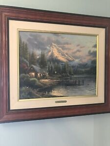 Original Thomas Kinkade Lakeside Hideaway