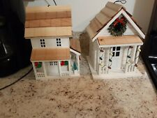 Home Bazaar White Cottage Birdhouse - New! Set of 2. Tags missing