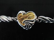 Sterling Silver & 24K Gold Plated Bracelet Inspired by the FOOTPRINTS Poem, NEW