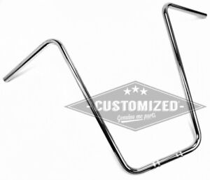 1 inch (25,4mm) Universal Handlebars Ape Hanger 24 Inch Chrome