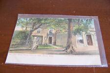 Rare Vintage Antique Postcard Massachussetts Salem Witch House 1634 1905 Trees