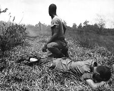 """U.S. Soldier wounded by Viet Cong booby trap 8""""x 10"""" Vietnam War Photo 178"""
