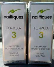 NAILTIQUES FORMULA 3 PROTEIN (2 BOTTLES) 2X 15ML HARD BRITTLE NAIL