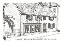 Art Sketch Postcard FORIUS 90 High Street Andover Hampshire by Don Vincent AS1