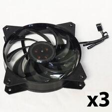 3 x Cooler Master 200031171-GP 120mm 1200RPM 3-pin Rifle Bearing Fan Black OEM
