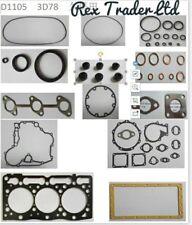 Kubota gasket kit D1105/3D78 engine 3 cyl 78mm bore. B2400, F2400
