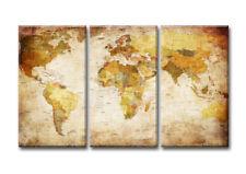 Bilder / Bild aufhängfertig Weltkarte Marke Visario 160x90cm XXL 3 Teile 1166 >