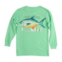 Southern Marsh Pompano Bimini Green Large T-Shirt Long Sleeve Pocket Fish