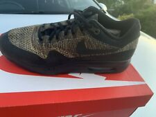 Nike Air Max 1 Ultra Flyknit Neutral Olive & Black Running Trainers UK 10 VVGC