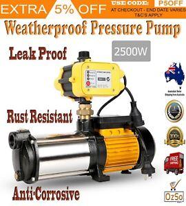 2500W Multi Stage High Pressure Rain Water Tank Pump Electric Garden Irrigation