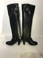 Russell & Bromley Ladies Over Knee Black Leather Boots Uk 6.5 Ref My01