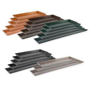Kunststoff Untersetzer zu Blumen Pflanz Balkonkasten in 5 Farben - 40 bis 100 cm