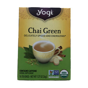 YOGI Chai Green Tea Brand New! Spiced Energizing March 2022