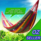 Fabric Hammock Air Chair Hanging Swinging Camping Outdoor 100%Cotton