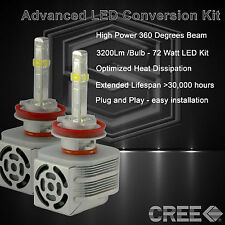 360 Degree Beam - New Gen CREE LED 6400LM Fog Light Kit 6k 6000k - H11 (D)