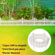 12PCS 24Ft DIY Fairy Garden Kit Garden Border Fencing Fence Pannels