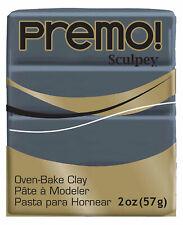 Sculpey Premo! Polymer Clay Slate Gray Oven Bake 2oz 57g Polyform