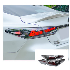 LED Tail Lights For Toyota Camry 18-20 Sequential Signal Smoke / Red Replace OEM