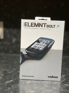 Wahoo Elemnt Bolt GPS Bike Computer - Black Stealth Edition
