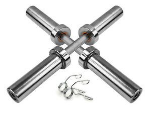 """Olympic 2"""" Dumbbell Bar with 2"""" 50mm Spring Collars - Weight Lifting Gym Sports"""