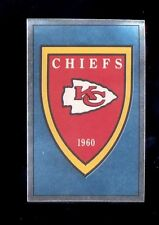 1990 Panini KANSAS CITY CHIEFS Shield Foil Sticker