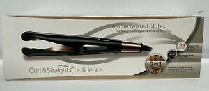Curl and Straight Confidence - Professional Hair Straightener and Curler 2 In 1