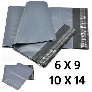 Strong Grey Plastic Mailing Post Poly Postage Bags with Self Seal 6x9 or 10x14