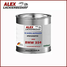 Autolack BMW 354 Titansilber Metallic 0,5 Liter Spritzfertig Basislack