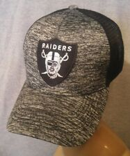 ed90e0977f6 Los Angeles Raiders Hat Melange Black Mesh Adjustable Snapback Ball Cap
