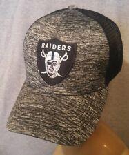 Los Angeles Raiders Hat Melange Black Mesh Adjustable  Snapback Ball Cap